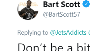 Bart Scott Claps Back to Jets Beat Writer With NSFW Response