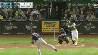 VIDEO: Watch Khris Davis Crush 44th Homer of Season to Put A's Up Early