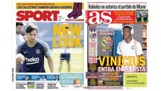 El nuevo look de Messi y los cambios de Lopetegui en las portadas deportivas