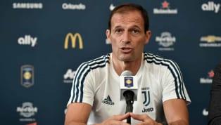 """Juve, Allegri: """"Douglas Costa multato. Ronaldo? E' pronto. Dybala? Domani gioca, Perin no"""""""