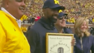 VIDEO: Watch Charles Woodson Receive College Football HOF Plaque at the Big House