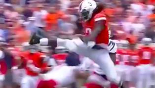 VIDEO: Virginia QB Ridiculously Hurdles Defender on Big Run