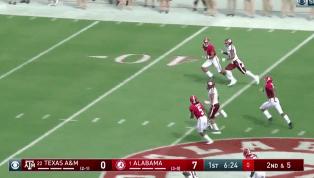 VIDEO: Kellen Mond Follows 54-Yard Hero Run With TD Pass Against Alabama