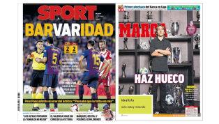 El empate del Barça y los premios The Best en las portadas