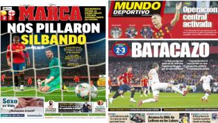 La derrota de la 'Roja' ante Inglaterra, protagonista en las portadas