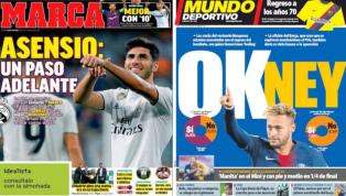 La hora de Asensio y el posible regreso de Neymar al Barça, protagonistas de las portadas