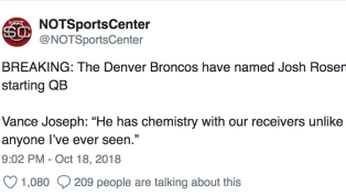 Josh Rosen is Getting Demolished on Twitter for Embarrassing Showing During TNF