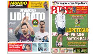 El Real Madrid y el Barcelona buscan regresar al triunfo en las portadas de los principales medios
