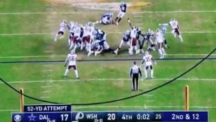 VIDEO: Cowboys Kicker Brett Maher Just Barely Misses Potential Game-Tying Field Goal