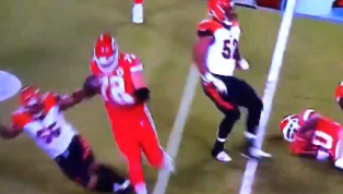 VIDEO: Notorious Dirty Player Vontaze Burfict Caught Flopping Against the Chiefs