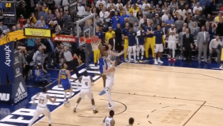 VIDEO: Nuggets Block Warriors at the Buzzer to Upset the Defending Champs