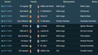 Todos los partidos, horarios y TV de la 11ª jornada de LaLiga Santander