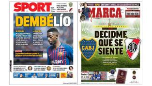 Los problemas con Dembélé y la final de la Libertadores en las portadas