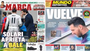 El toque de atención a Bale y el regreso de Messi, protagonistas de las portadas