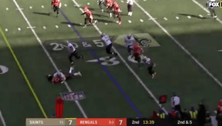VIDEO: Watch Mark Ingram Pay Tribute to Dez Bryant After TD vs. Bengals