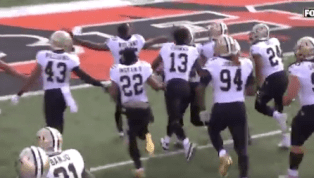 VIDEO: Saints Troll Bengals Fans With OH-IO Celebration After Eli Apple INT