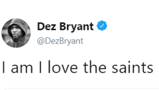 Dez Bryant Indicates He'd Love to Re-Sign With Saints Next Season