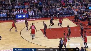 ¡OUCH! Pelicans inicia el juego ante Raptors con una violenta volcada en reversa de Anthony Davis