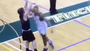 VIDEO: Fitchburg State Basketball Player Viciously Elbows Opponent to the Ground for No Reason