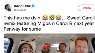 David Ortiz Jokes About 'Sweet Caroline' Fenway Remix After Migos' Carpool Karaoke Appearance