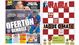 La oferta por Dembélé y el crucial partido de España en las portadas