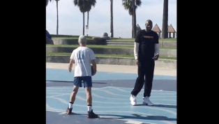 VIDEO: Lamar Odom Shot Hoops With Homeless Man in Venice Beach