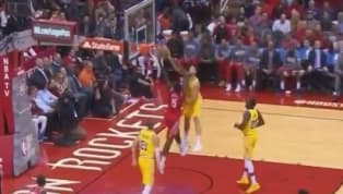 VIDEO: Klay Thompson Stuffs the Heck Out of Clint Capela at the Rim