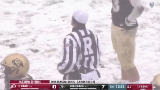 VIDEO: Ref Actually Has to Stop Utah-Colorado Game to Tell Fans to Stop Throwing Snowballs