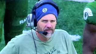Colorado State Coach Mike Bobo Wore a T-Shirt in the Freaking Snow