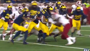 VIDEO: Indiana Player Ejected for Targeting for Outrageous Cheap Shot Against Michigan