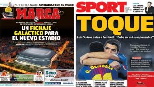 El fichaje galáctico para el nuevo Bernabéu y el 'toque' a Dembélé, protagonistas de las portadas