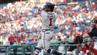 Ozzie Albies Out of Sunday's Game With Hamstring Injury