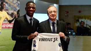 Real Madrid Unveil New €45m Signing Vinicius Junior Following Arrival From Flamengo