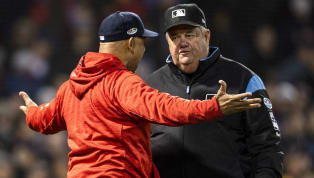 Joe West Comes Up With Weirdest Excuse Yet for Mookie Betts Interference Call