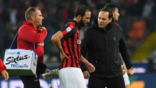 Gonzalo Higuain Set to Miss AC Milan's Europa League Game Against Real Betis With Back Injury