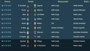Todos los partidos y horarios de la penúltima jornada de LaLiga Santander