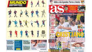 El regreso de CR7 y el adiós al capitán en las portadas españolas