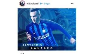 """Inter, anche Icardi dà il benvenuto a Lautaro Martinez: """"Ti auguro il meglio con questi colori"""""""