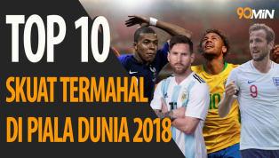 VIDEO: Top 10 Skuat Termahal di Piala Dunia 2018