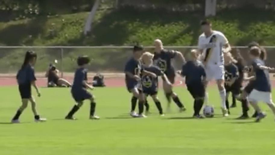 VIDEO: LA Galaxy Stars Defeat 30 8-year-old Kids in Soccer