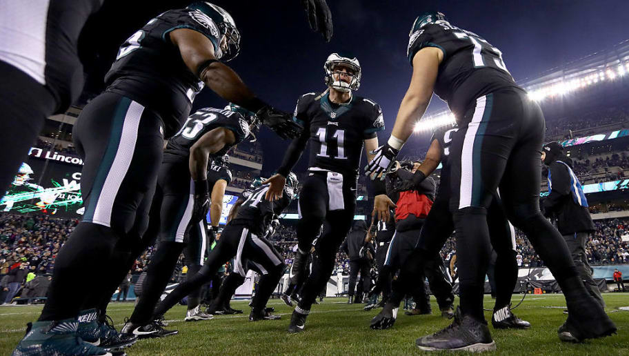 Image result for carson wentz with o line
