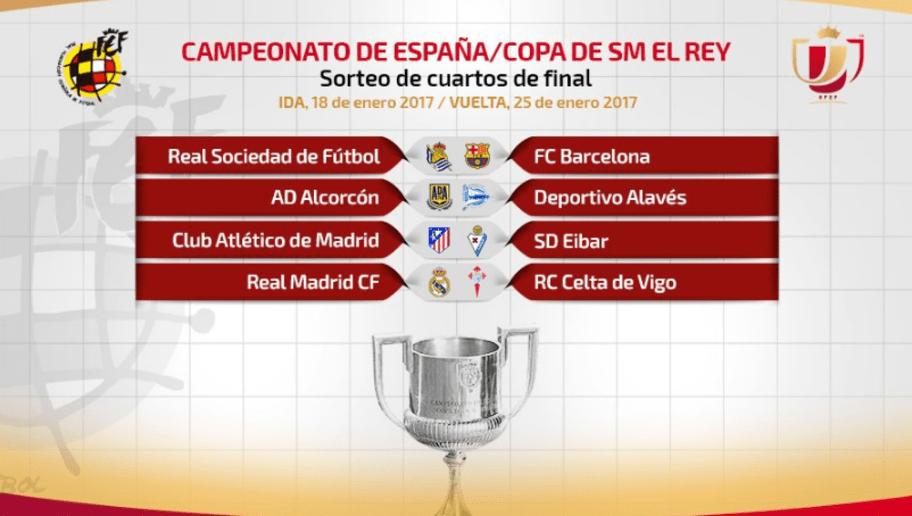 Partidos y horarios de la ida de los cuartos de final de Copa del ...