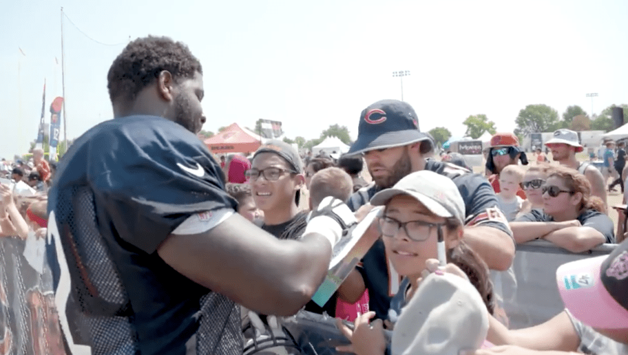 Chicago bears signing autographs quotes about change