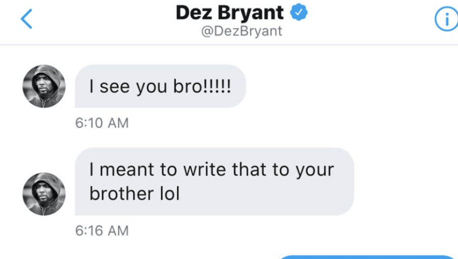 dez bryant mistakenly sent dm to jake paul and the response was 100