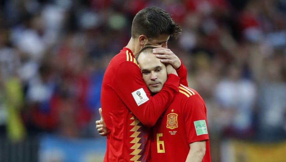 Image result for Spain and Barcelona legend Andres Iniesta announces international retirement after Russia defeat
