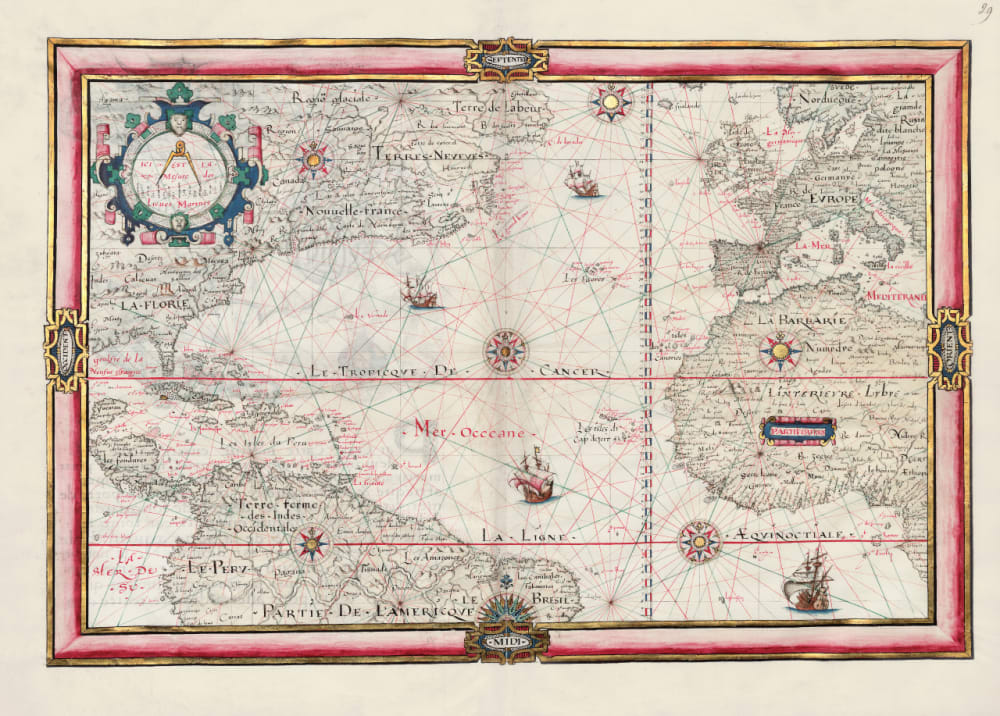 4. Map of the Atlantic Ocean