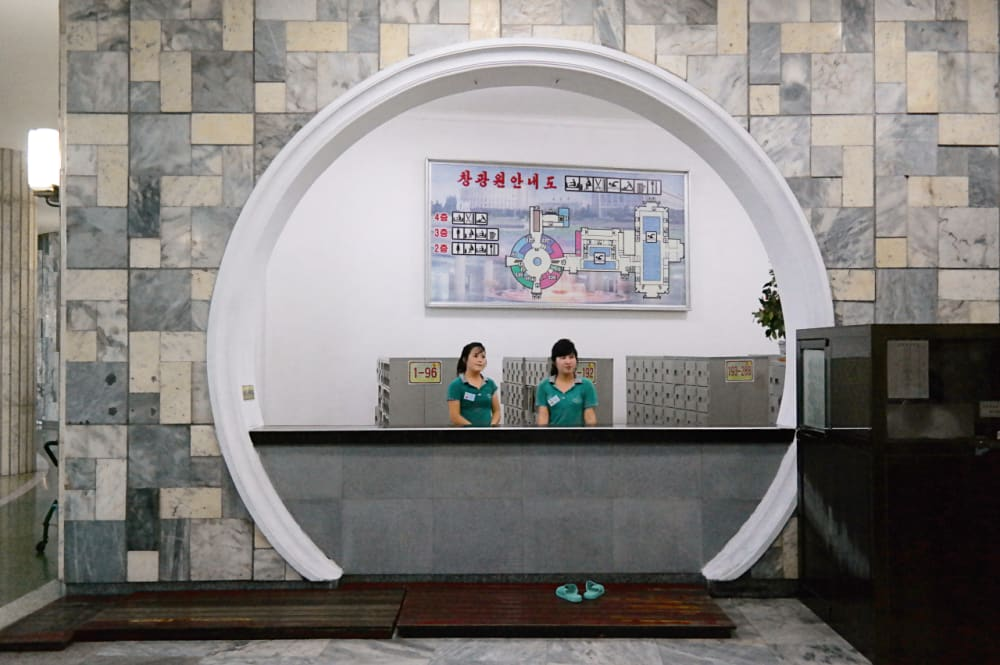 8. A Reception Area at the Changgwang Health and Recreation Complex