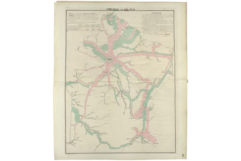 1. Circulation of Goods on French Railroads and Waterways in 1856