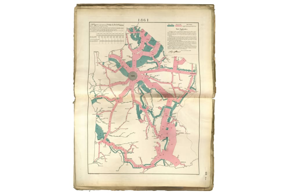 3. Circulation of Goods on French Railroads and Waterways in 1861