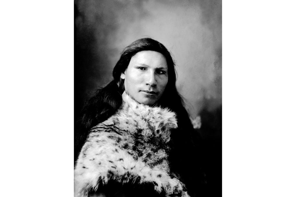 7. A woman wearing fur